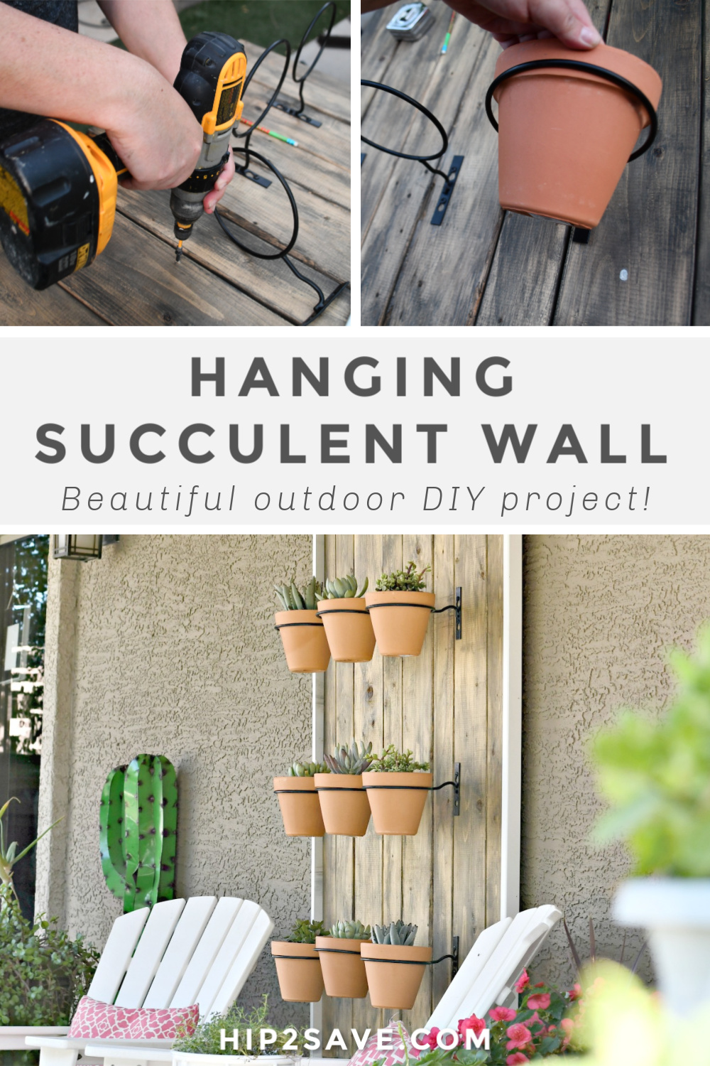 Build This Diy Hanging Succulent Wall For Your Patio Hip2save