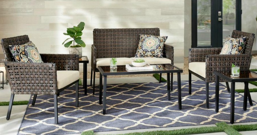 Hampton Bay 6 Piece Wicker Patio Set Only 239 Shipped At Home Depot
