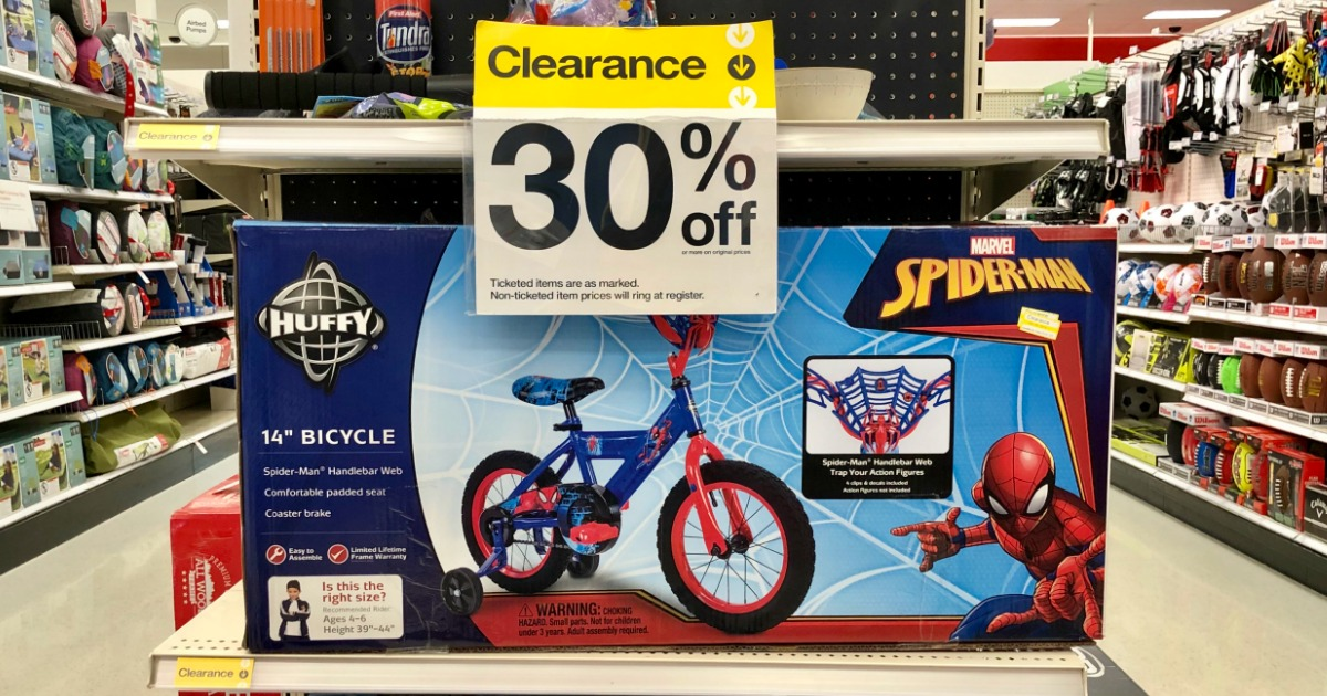 Up to 50% Off Huffy Spider-Man & Cars 3 Kids Bikes at Target