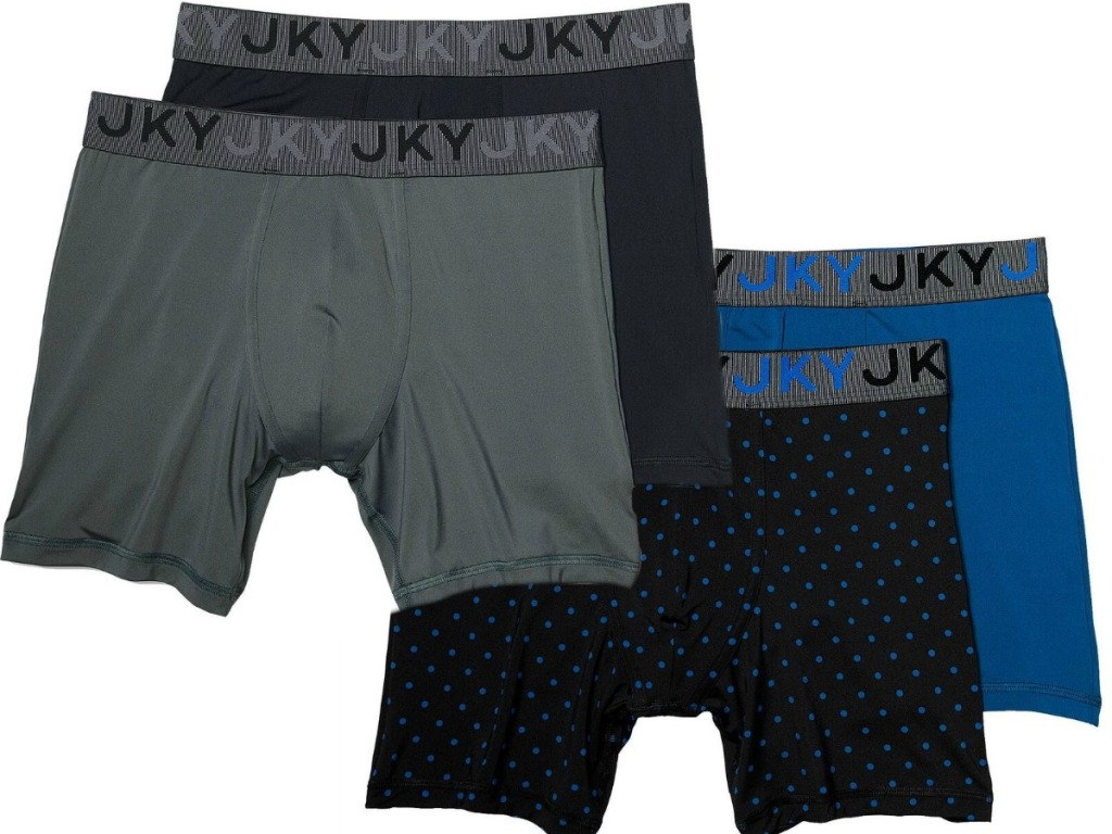 four pairs of men's brand jockety underwear
