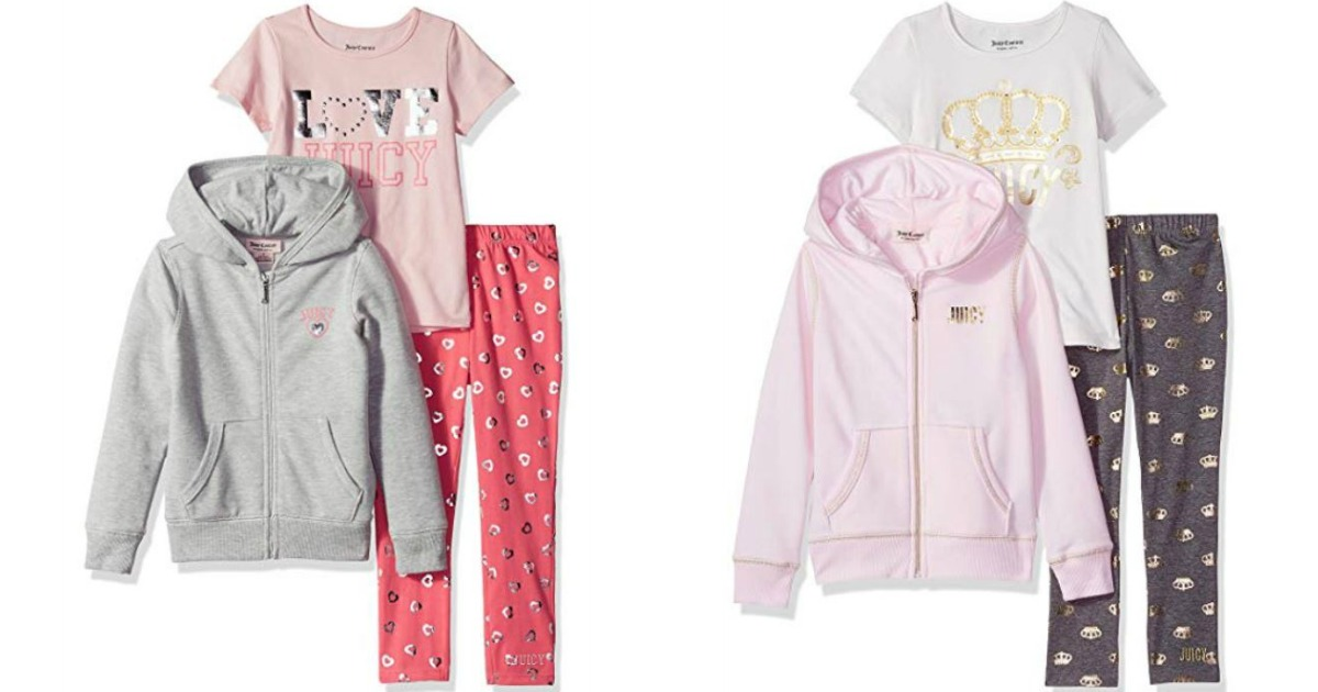2 sets of kids clothing with hoodies, leggings & t-shirt