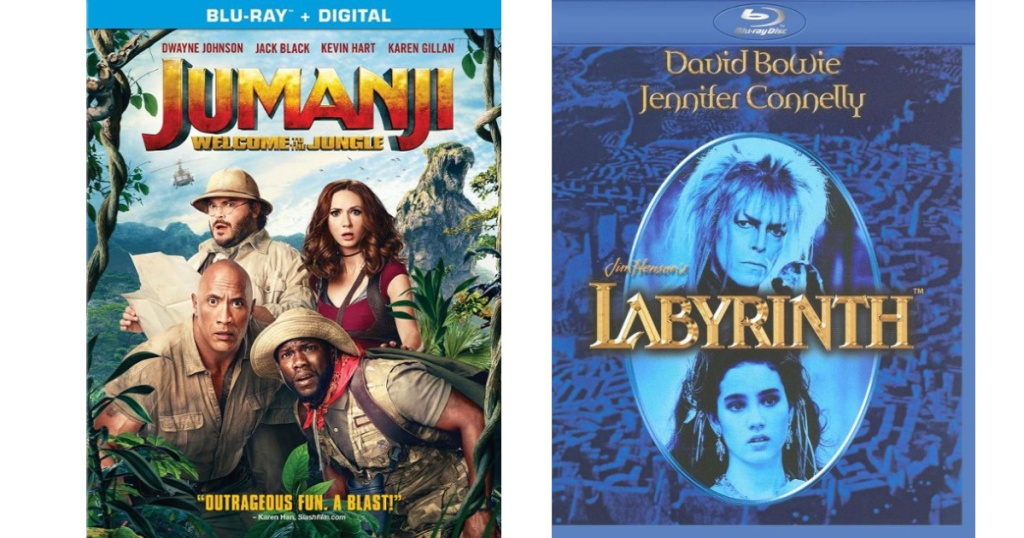 jumanji and The Labyrinth Blu-Ray dvd