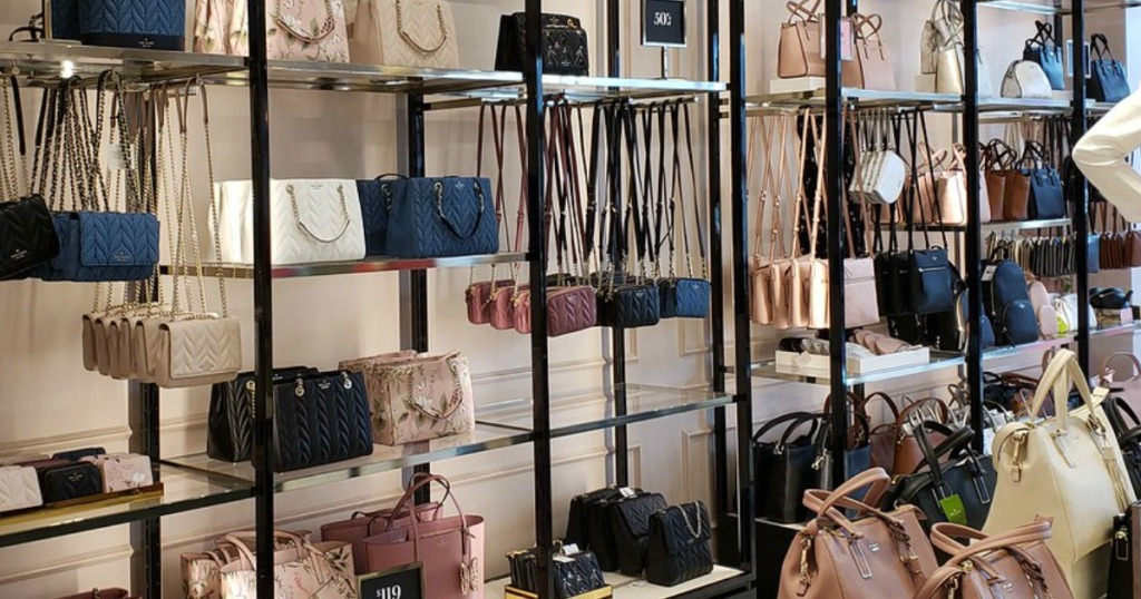 lots of purses on display in store