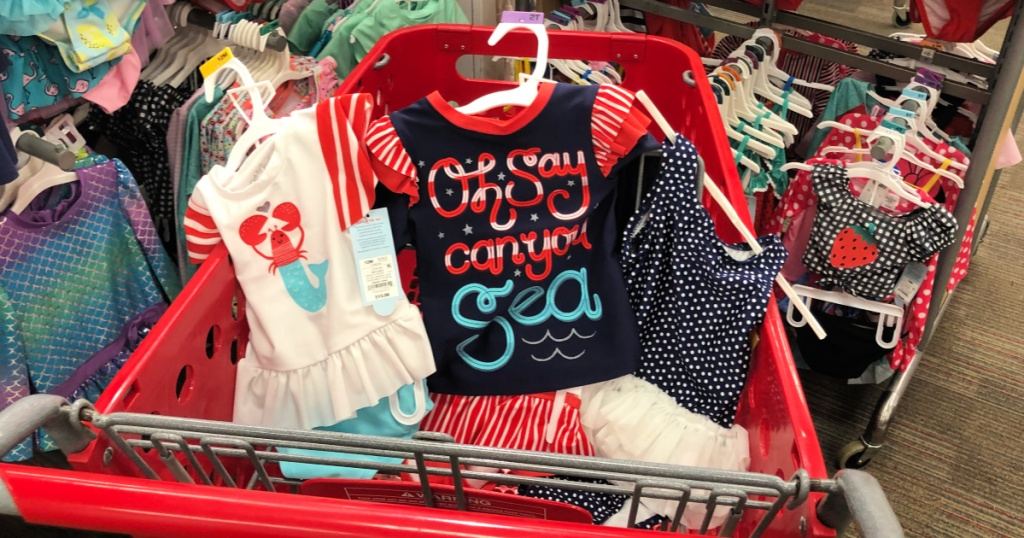 Girls red white and blue swimwear at target