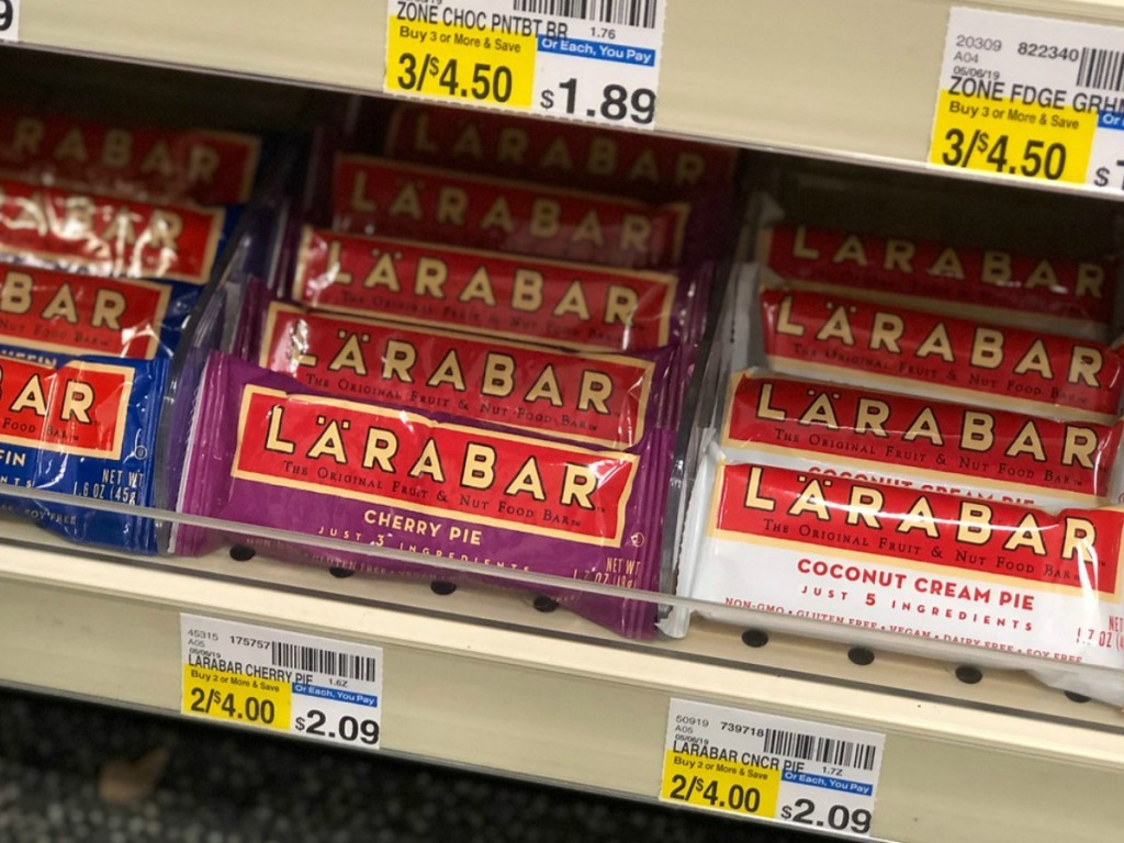 larabar bars on store shelf