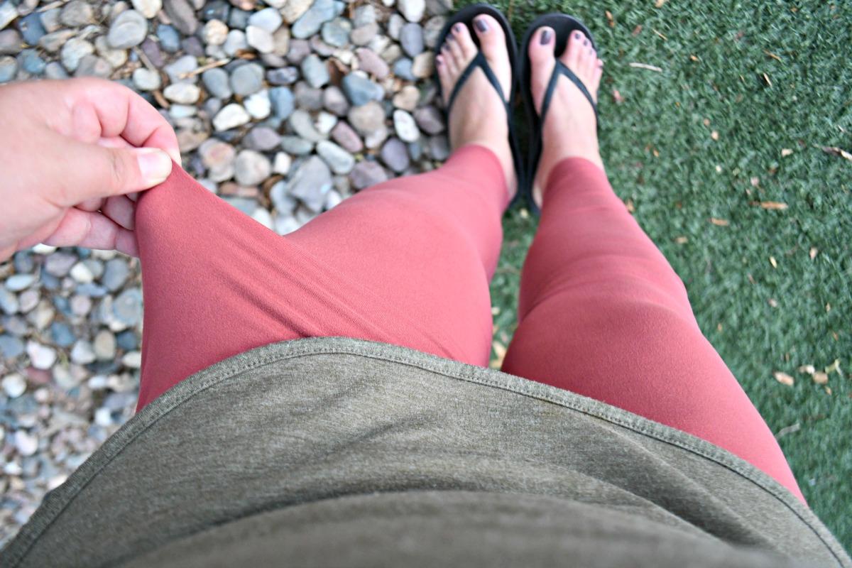 wearing super thin leggings from amazon