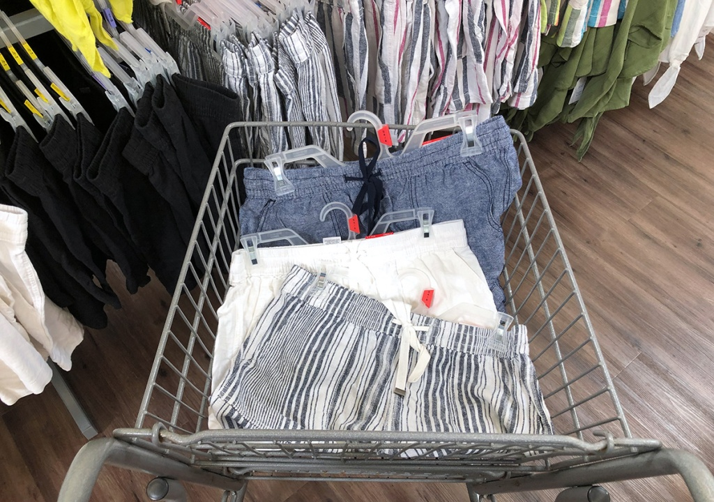 assortment of time and tru linen shorts at walmart