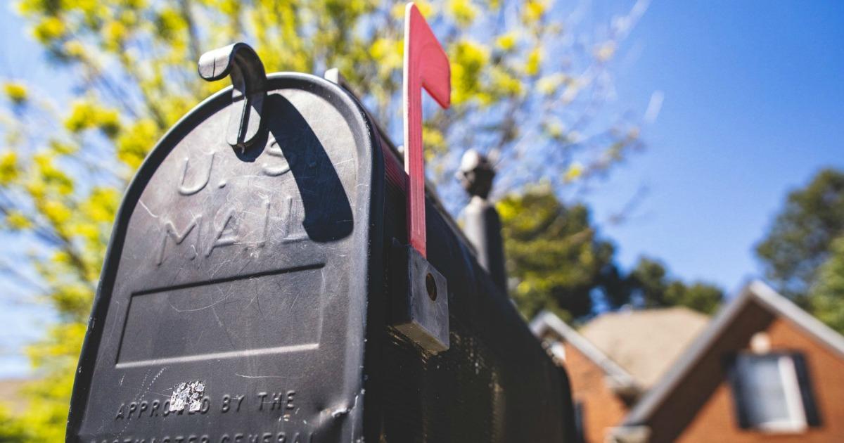 black mailbox at street