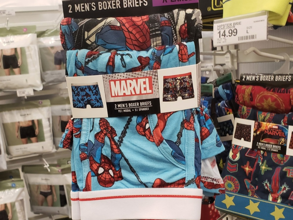 men's marvel spiderman boxers