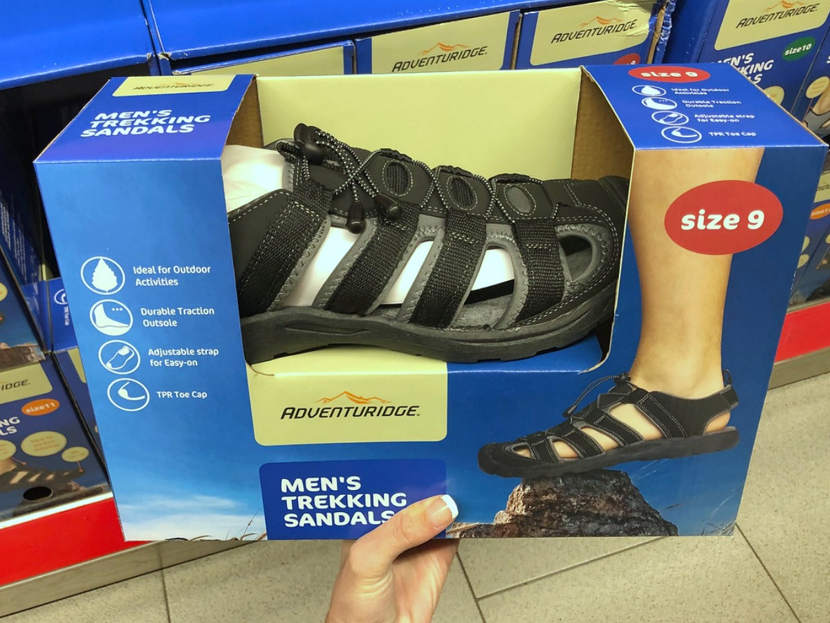 mens outdoor sandals in a box