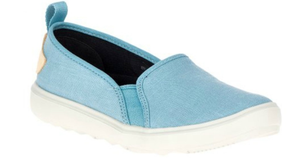 women's slip on shoes in blue