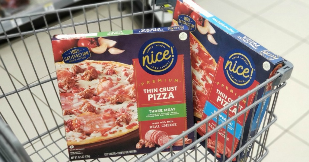 Nice! pizzas in a cart