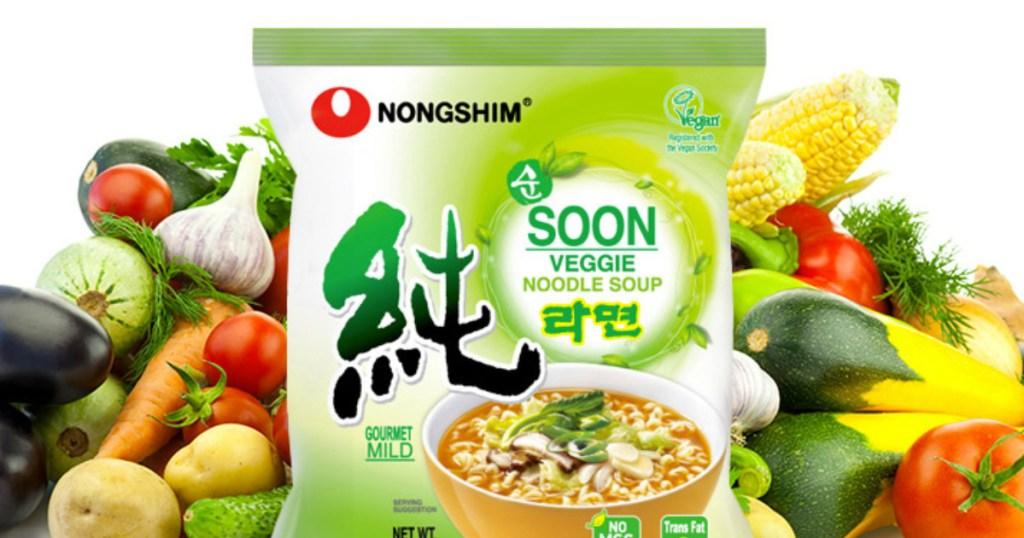 Nongshim veggie noodle soup