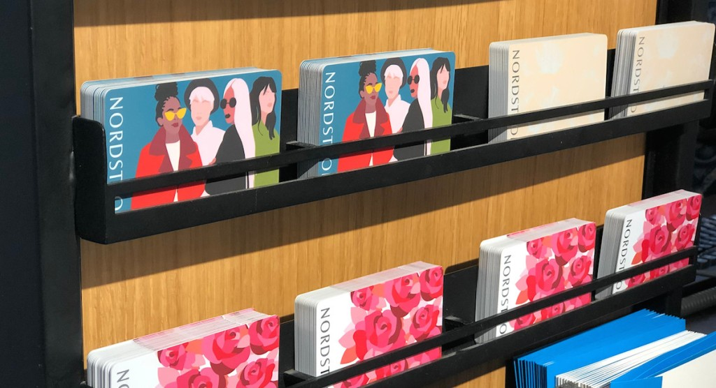 rows of nordstrom gift cards