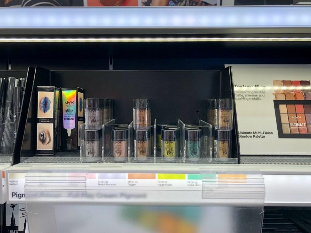 nyx foil play bottles on store shelf