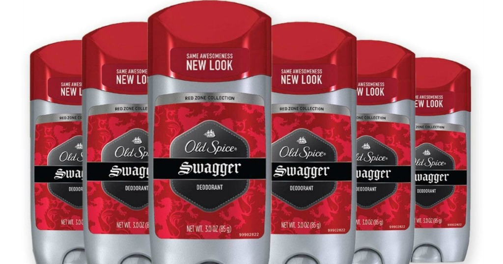 six old spice swagger deodorants