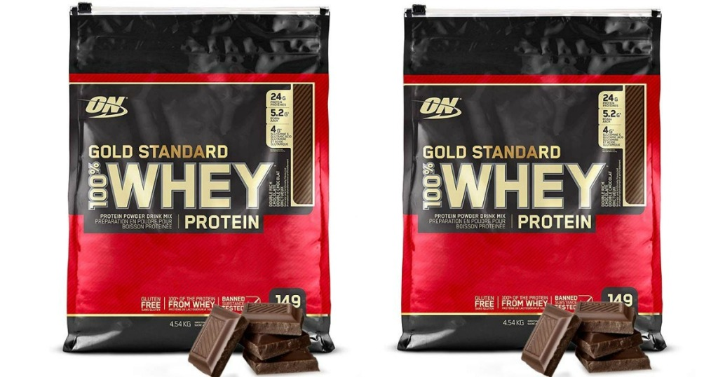 two gold standard whey bags