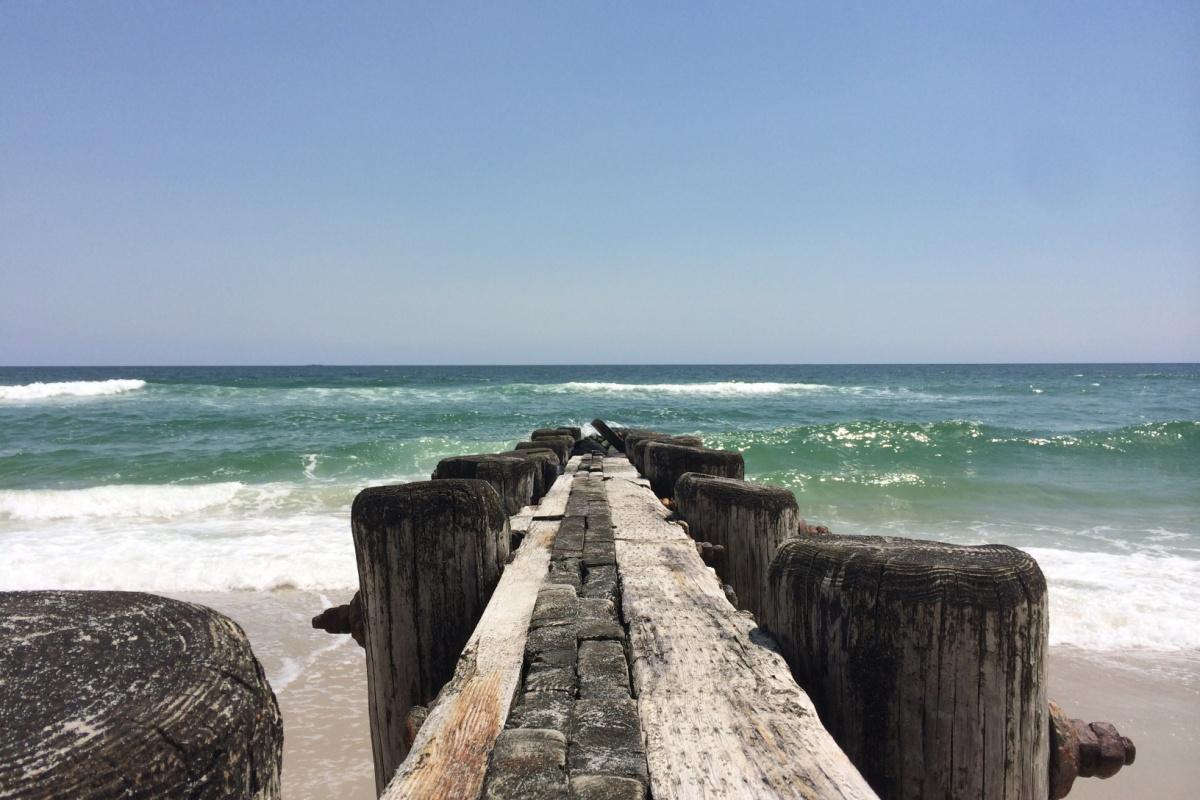 pier leading into the ocean