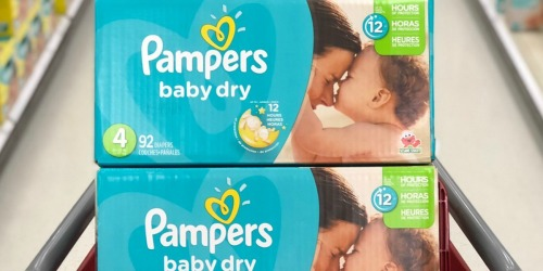 Pampers Diaper Boxes Only $11.33 Each Shipped After Walgreens Rebate