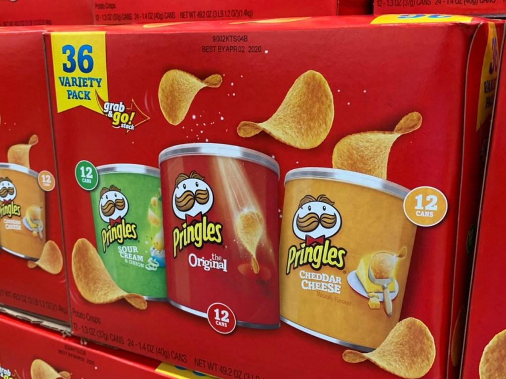 box of pringles chips in store