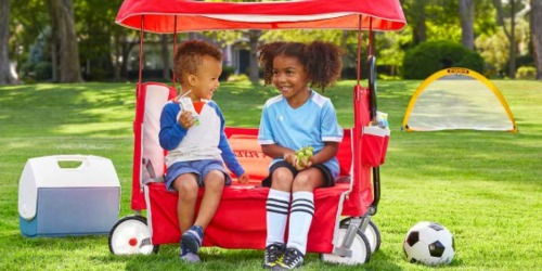Radio Flyer EZ Fold Wagon w/ Canopy & Cupholders Only $59 Shipped (Regularly $100)