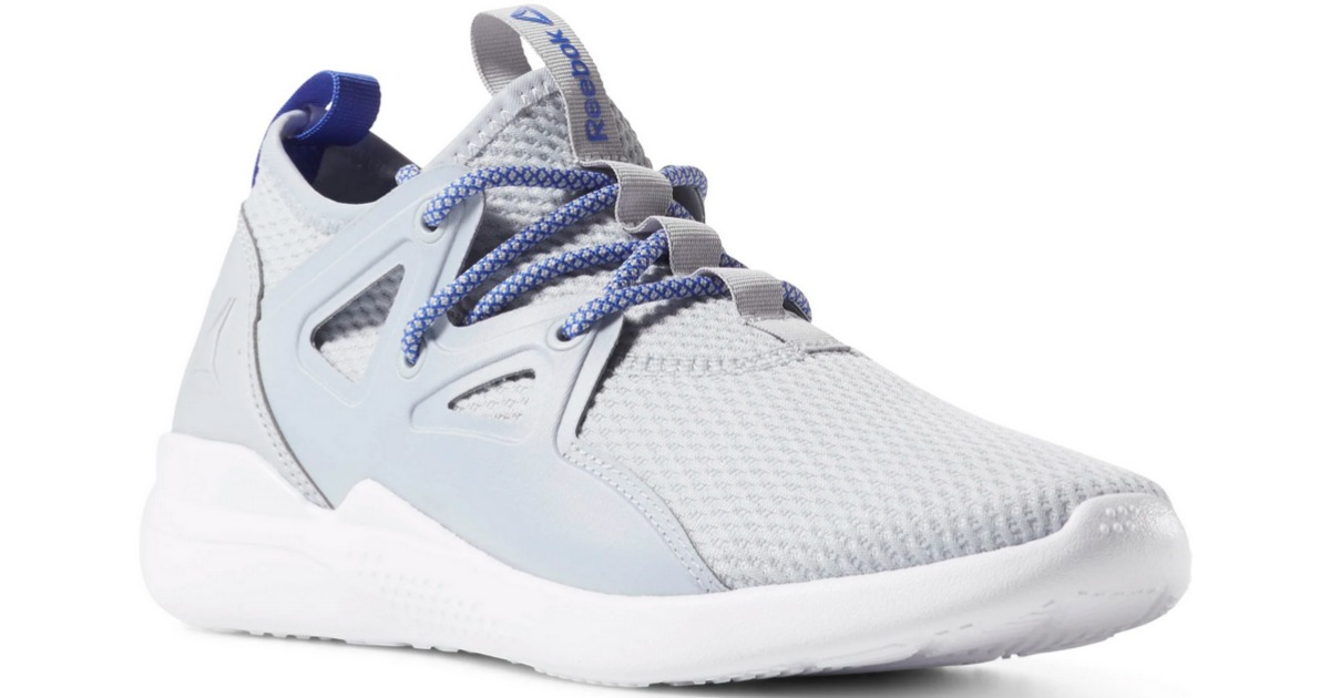 blue cardio motion shoes from side angle