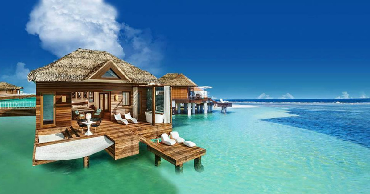 sandals resorts room on the water