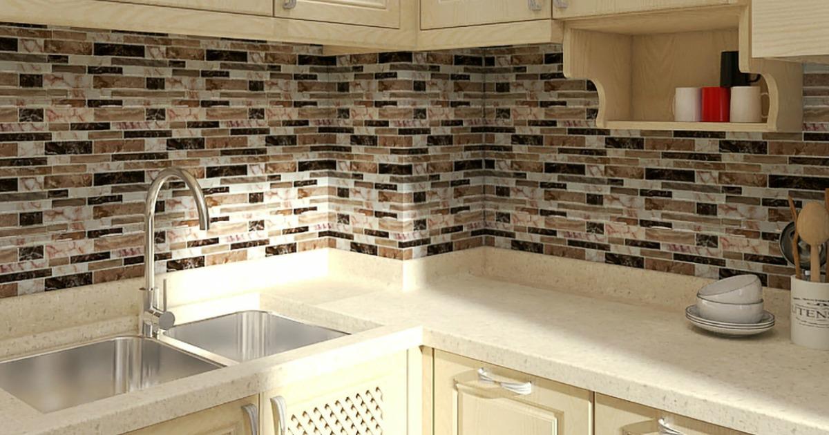 backsplash tile for kitchen peel and stick up to 45 off peel stick kitchen backsplash tile at walmart