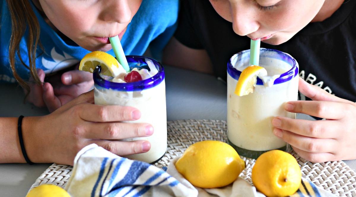 sipping copycat chick-fil-a lemonade freeze copycats