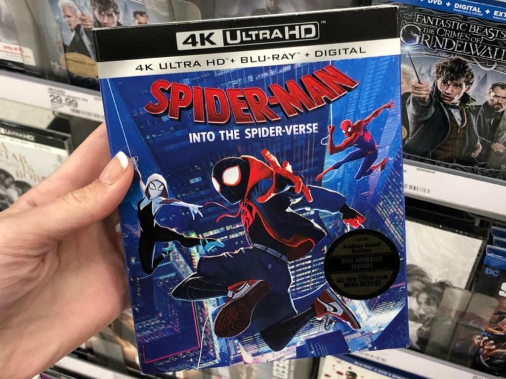 hand holding spider-man