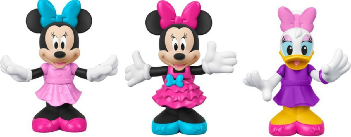 three swayin sweeties action figures, minnie and daisy