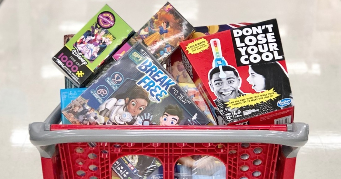 Target board games in shopping cart