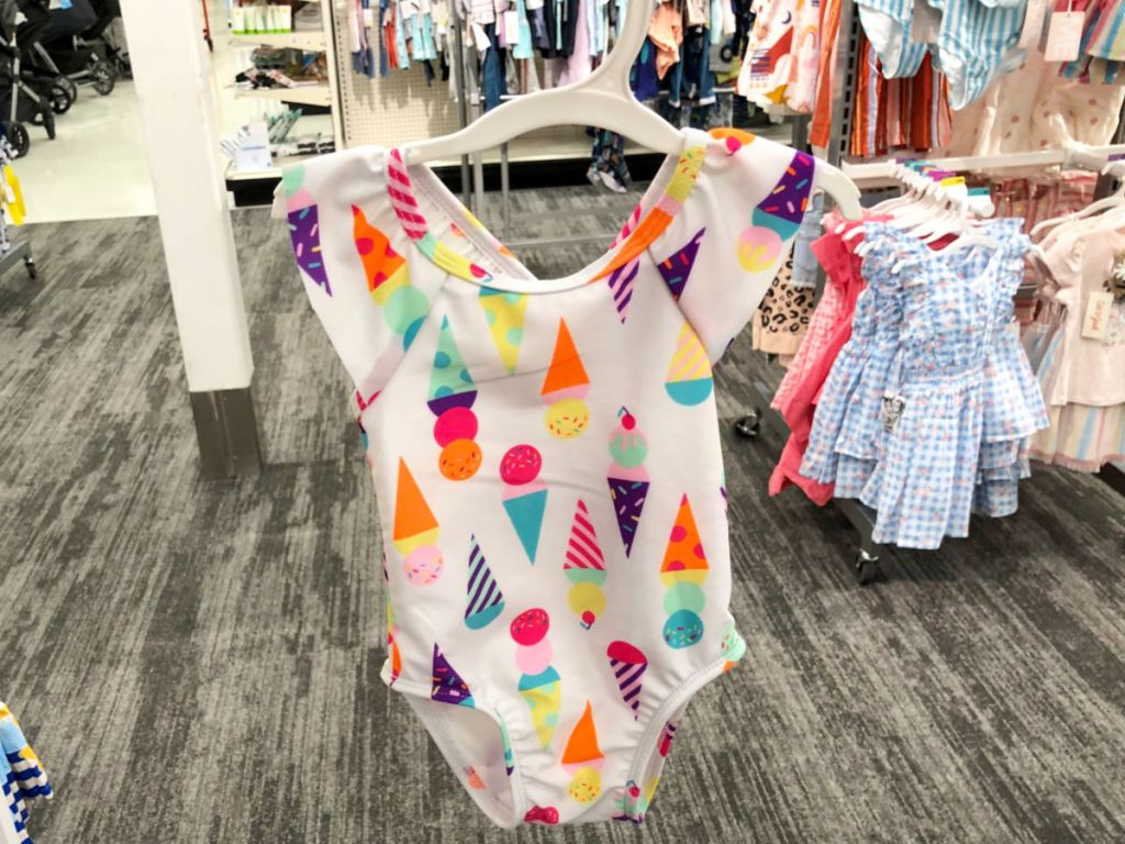 girls ice cream cones one piece bathensuit at target