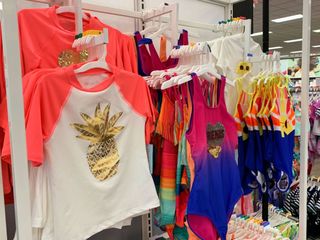 Target girls rash guard pineapple with one piece in store