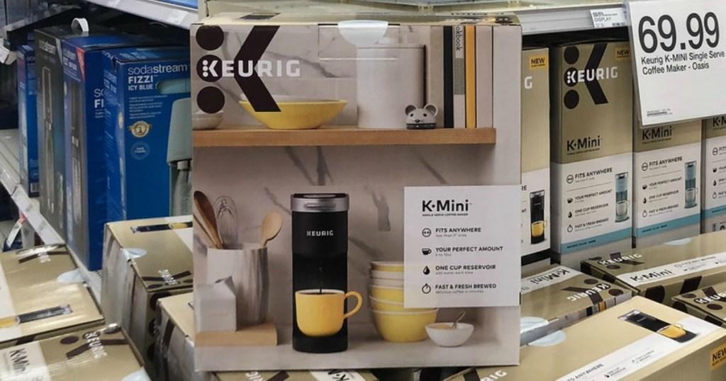 keurig mini single-serve coffee maker on display at target