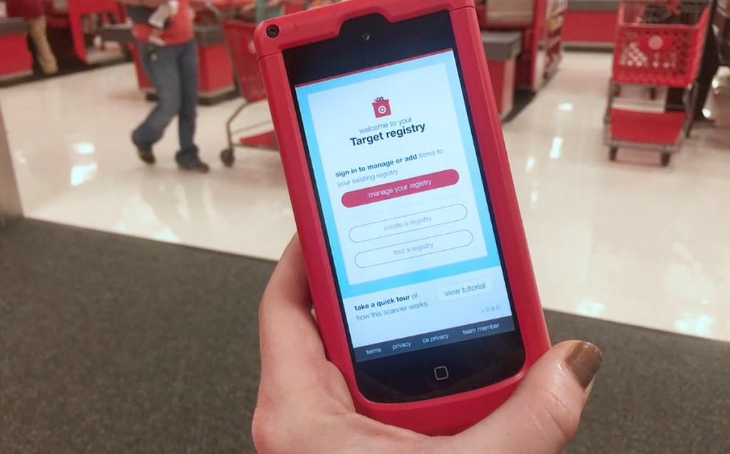 target registry app on phone