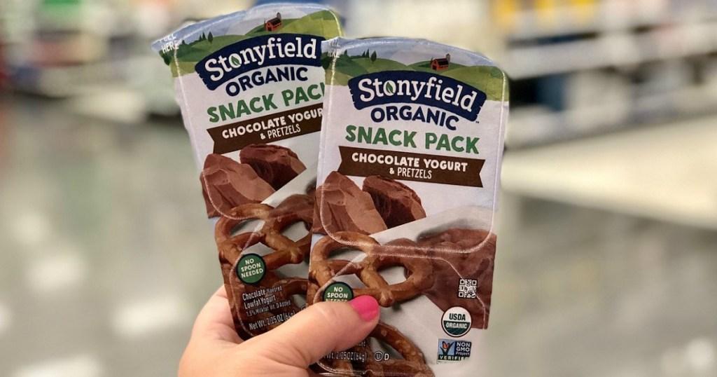 stonyfield yogurt snack packs at target