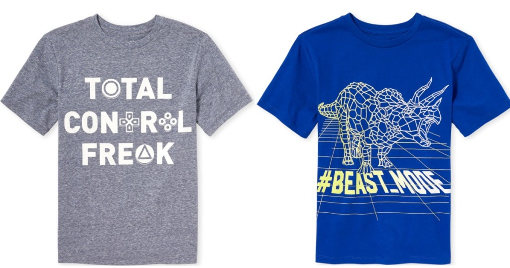 total control freak tee and beast mode tee
