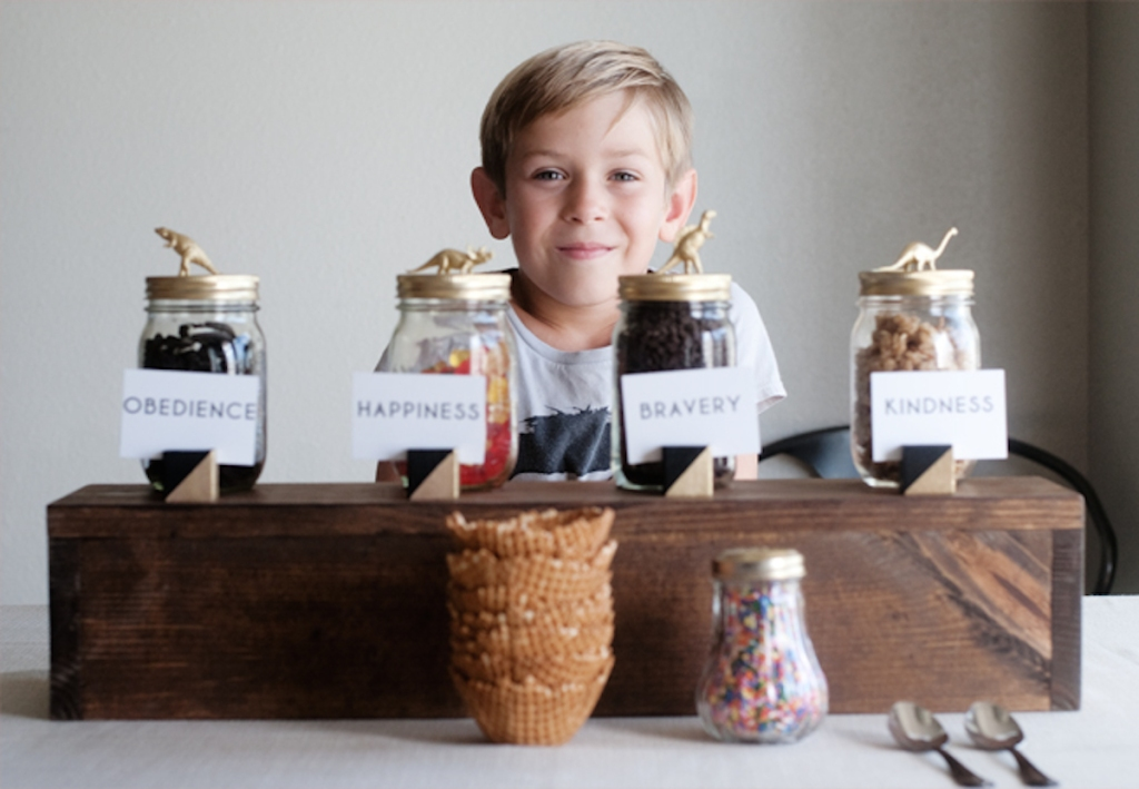 boy with jars of candy