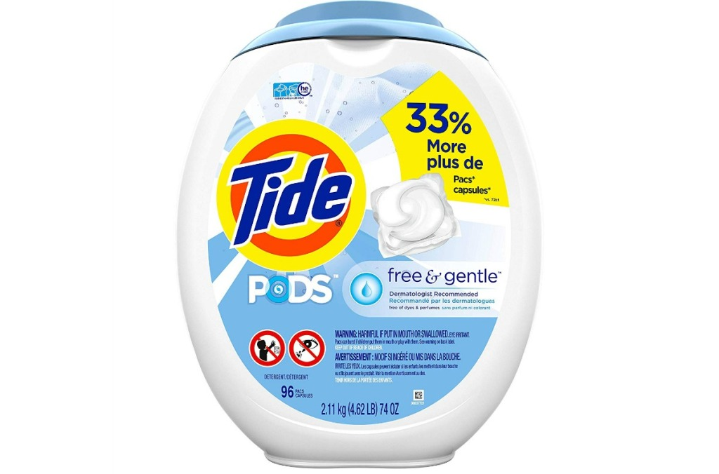 tide pods free and gentle