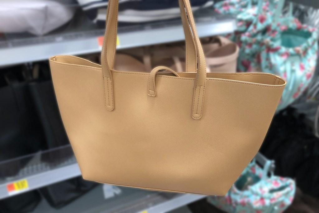tan time and tru carryall bag
