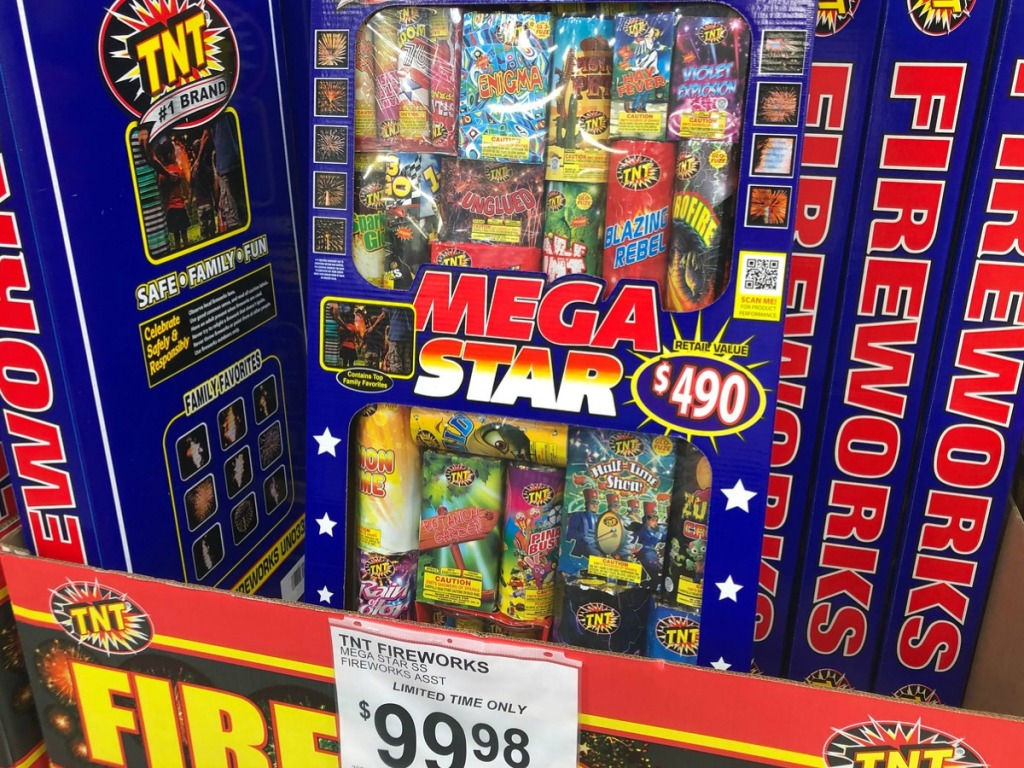 big box of fireworks in store