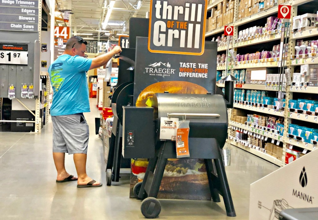 traeger grills at home depot