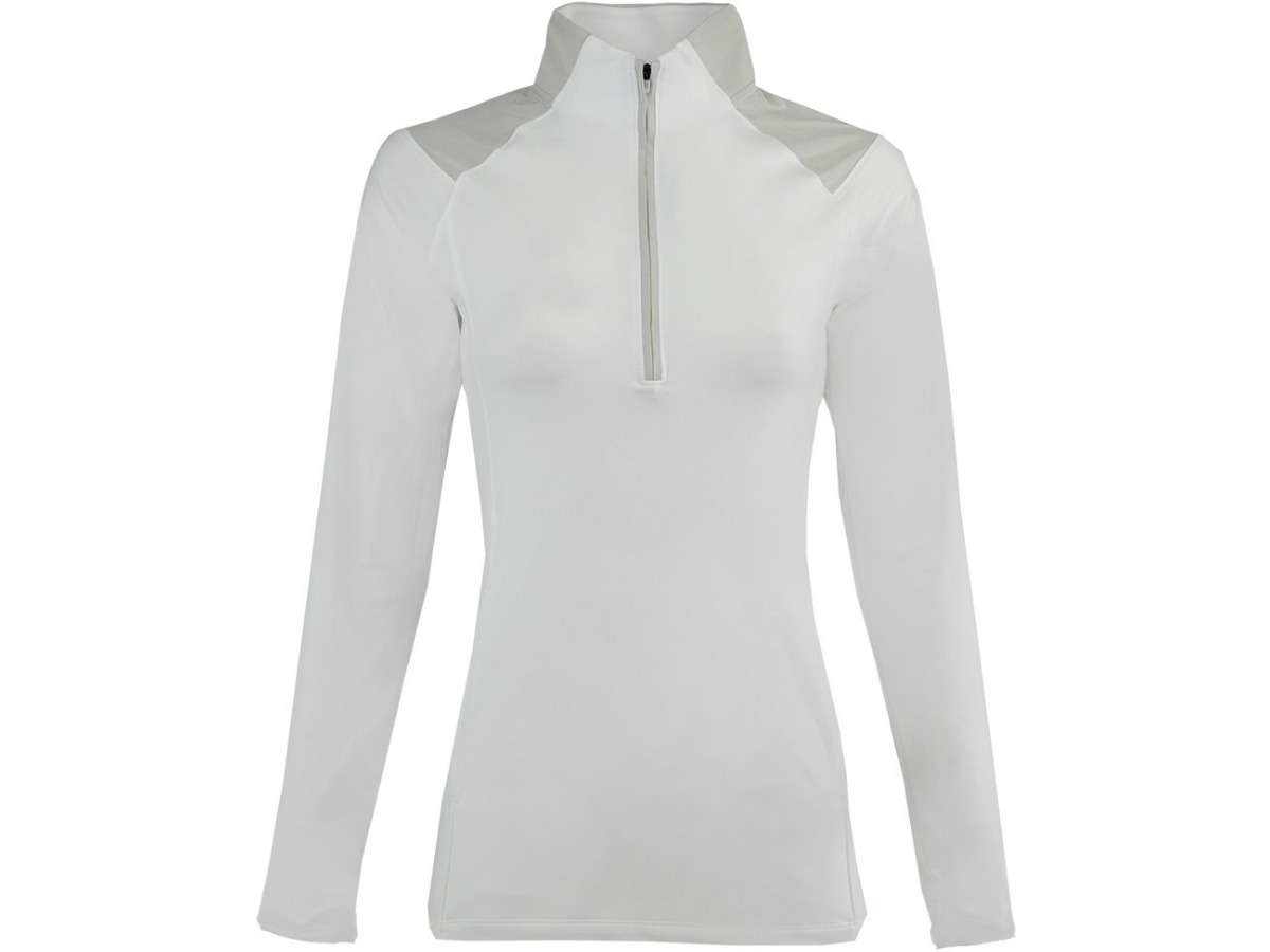 white jacket with long sleeves and zipper