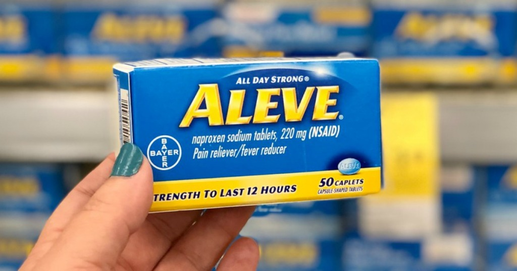 aleve pain relief caplets at walgreens