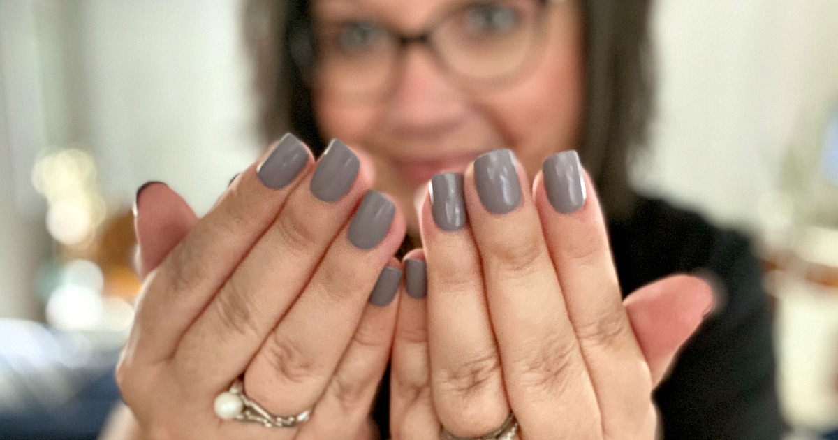 woman with Impress Nails on