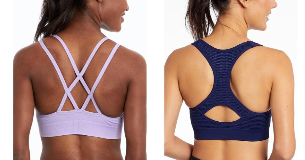 back view of women wearing sports bras