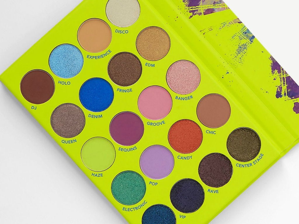 make up palette with lots of colors