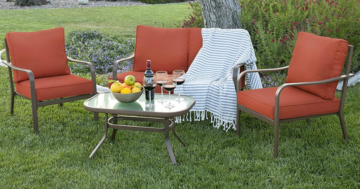4 Piece Outdoor Patio Furniture Set Only 249 99 Shipped Regularly