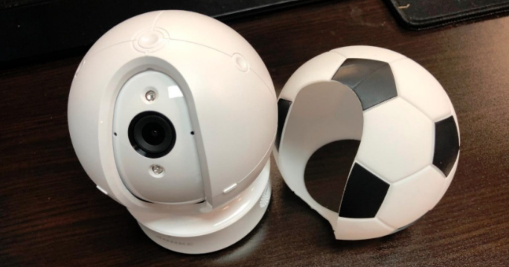 annke security camera and soccer ball casing